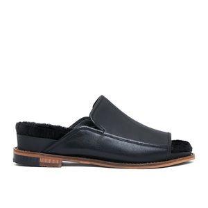 Kelsi Dagger Odelle Faux Fur Leather Slide Sandal